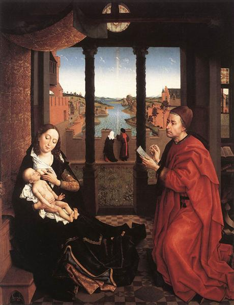 St. Luke Drawing a Portrait of the Virgin Mary - Rogier van der Weyden