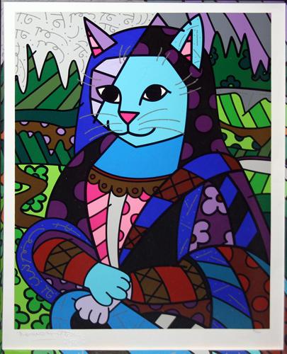 Mona Cat - Romero Britto