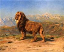 Lion in a Mountainous Landscape - Роза Бонёр