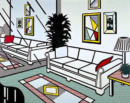 Interior with mirrored wall, 1991 - Roy Lichtenstein