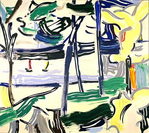Sailboats through the trees, 1984 - Roy Lichtenstein