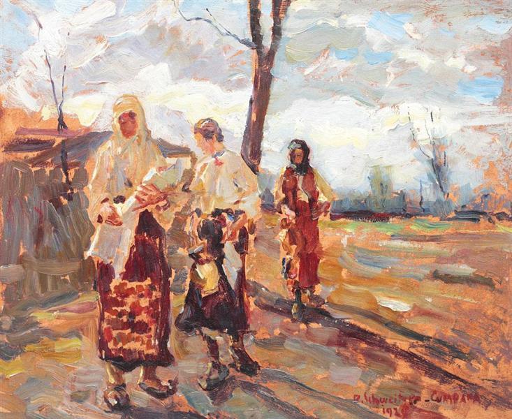 Baptism at the Countryside, 1924 - Rudolf Schweitzer-Cumpana