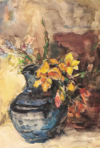 Springtime Flowers, 1973 - Rudolf Schweitzer-Cumpana