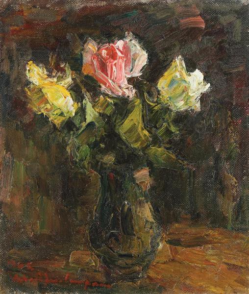 Vase with Roses, 1962 - Rudolf Schweitzer-Cumpana