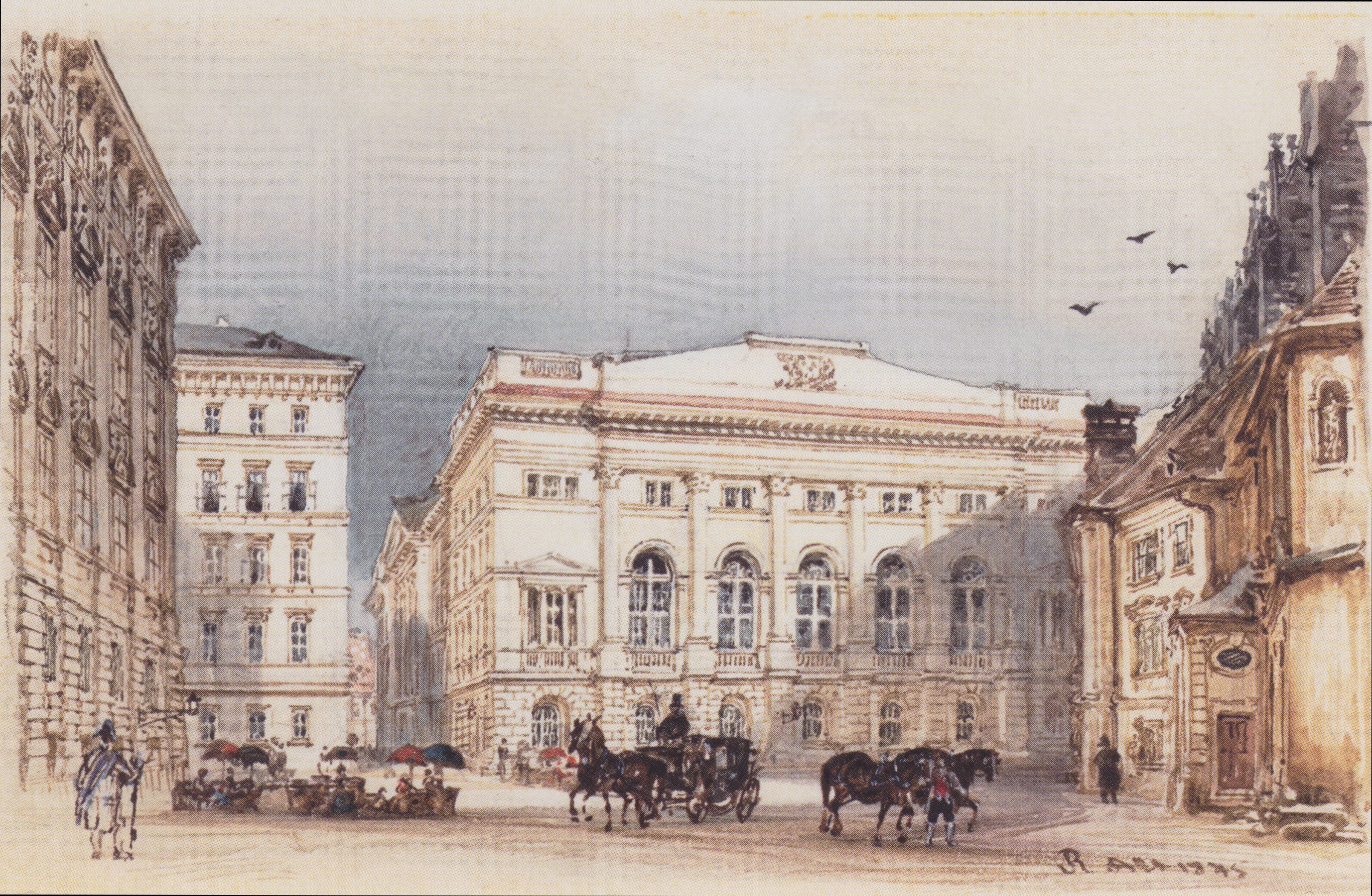 Lower Austrian country house in Vienna Viewed from Minoritenplatz, 1845