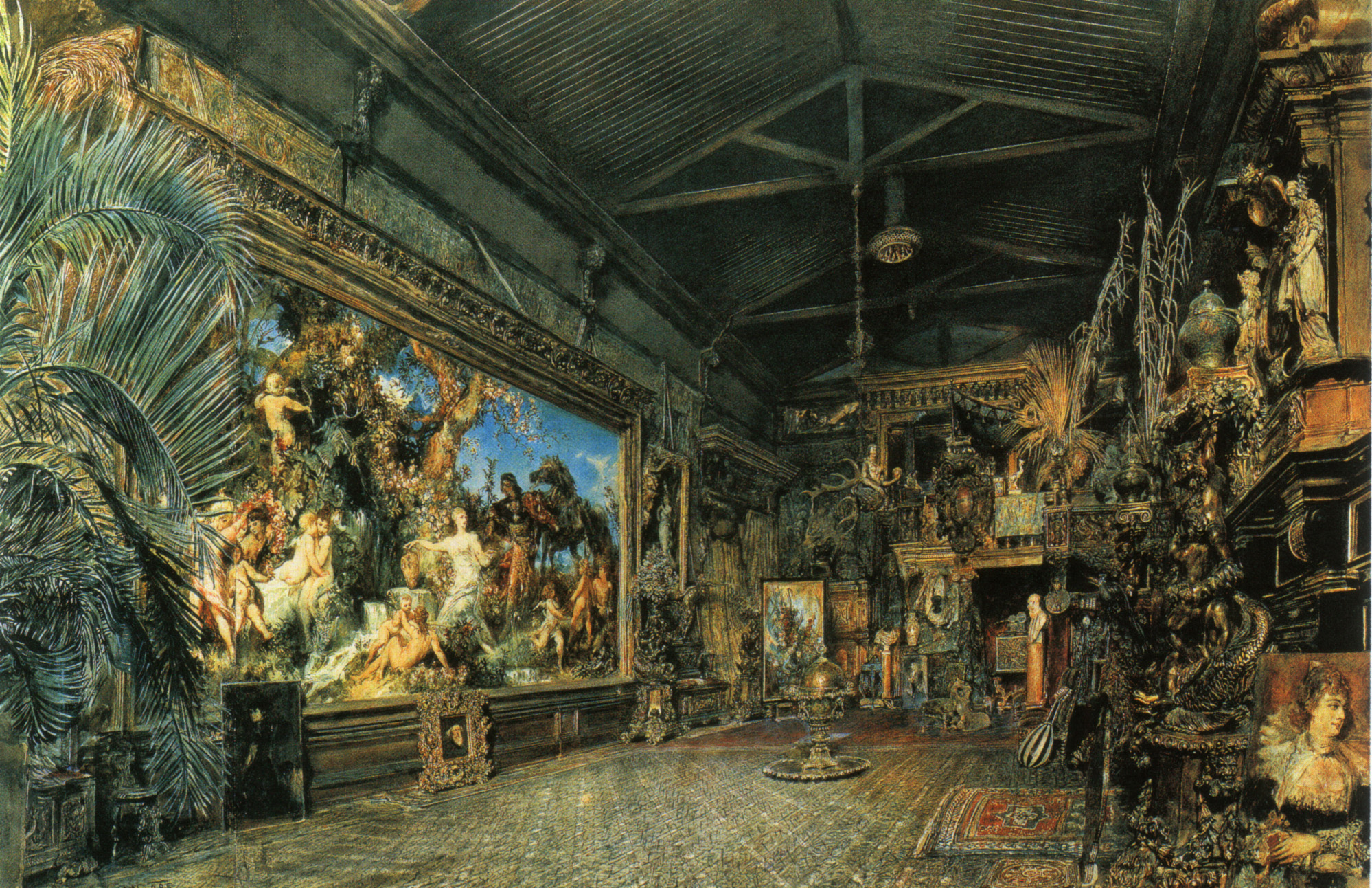 The studio before the auction, 1855