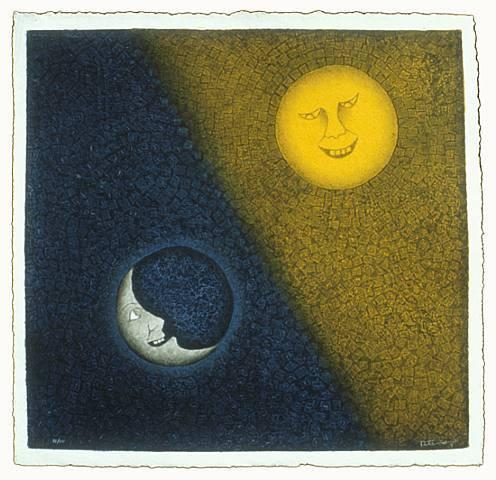 Moon and Sun, 1990 - Rufino Tamayo