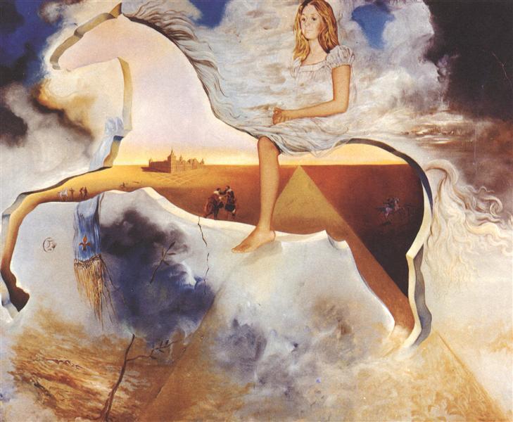 Equestrian Portrait of Carmen Bordiu-Franco, 1974 - Salvador Dali