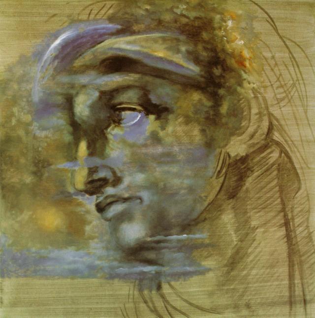 Head, after Michelangelo's, 'Giuliano di Medici', 1982