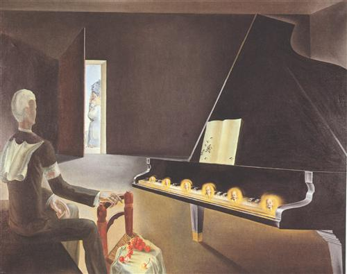 Partial Hallucination: Six Apparitions of Lenin on a Piano - Salvador Dali