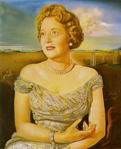 Portrait of Countess Ghislaine d'Oultremont, 1960 - Salvador Dali
