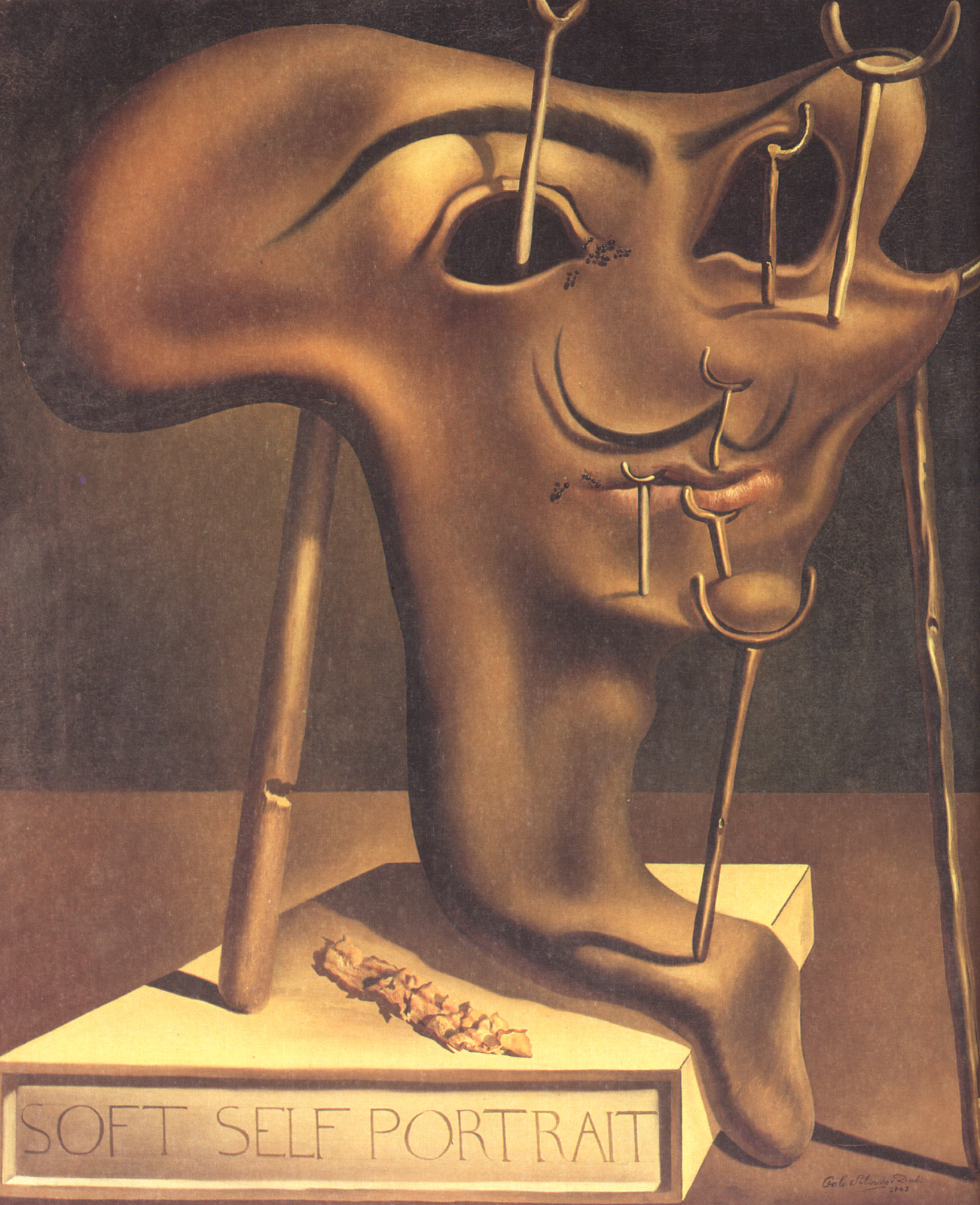 Soft Self-Portrait with Fried Bacon, 1941 - Salvador Dali ...