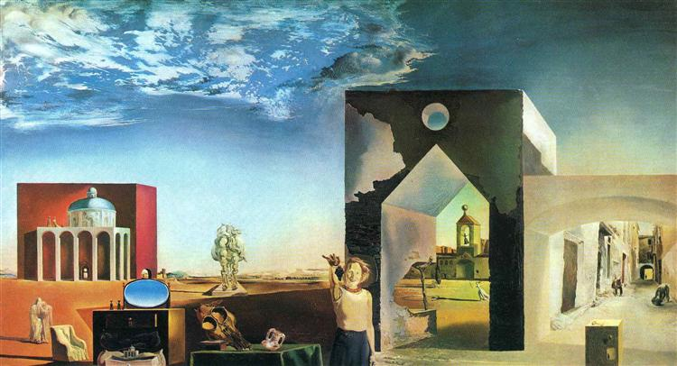 Suburbs of a Paranoiac Critical Town, Afternoon on the Outskirts of European History, 1936 - Salvador Dali