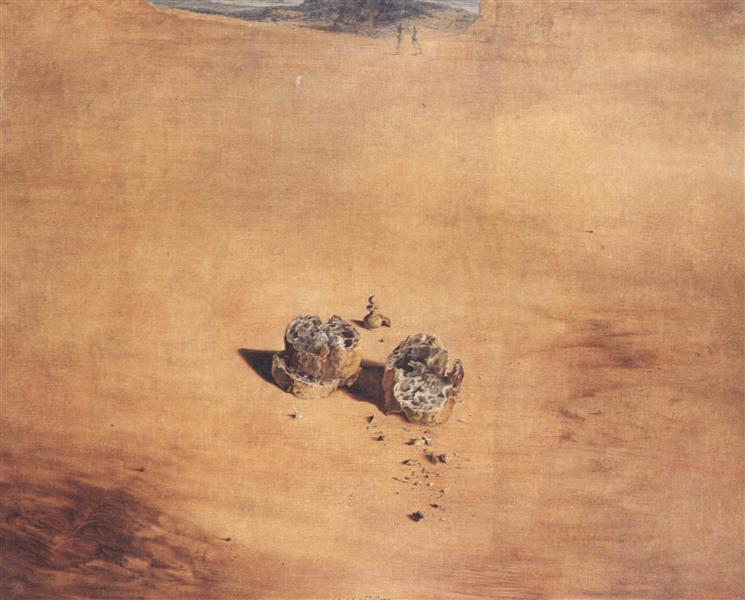 Two Pieces of Bread Expressing the Sentiment of Love, 1940 - Salvador Dali