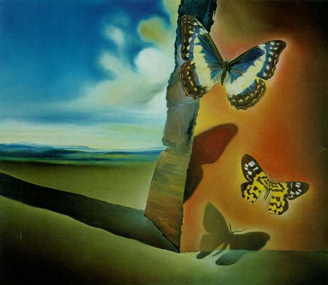 Untitled (Landscape with Butterflies), c.1956 - Salvador Dali