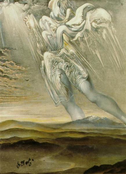Untitled (Surrealist Angel), c.1969 - Salvador Dalí