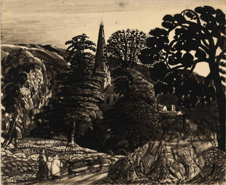 A Church among Trees - Samuel Palmer