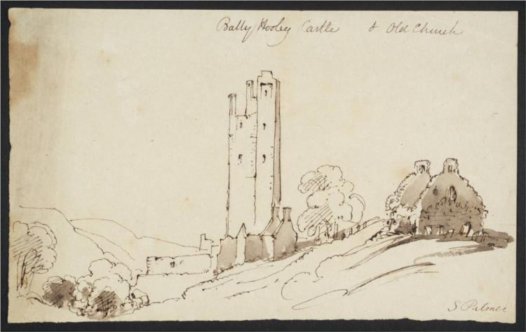 Bally Hooley Castle and Old Church - Samuel Palmer