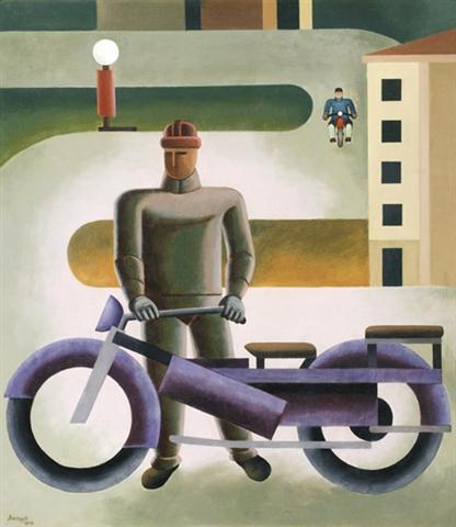 Motorrider, 1928 - Sandor Bortnyik