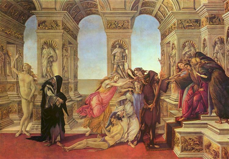 Die Verleumdung des Apelles, c.1495 - Sandro Botticelli