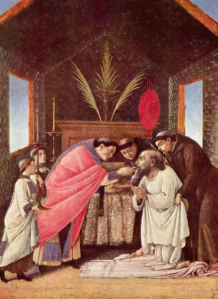 Last Communion of St Jerome, c.1495 - Sandro Botticelli