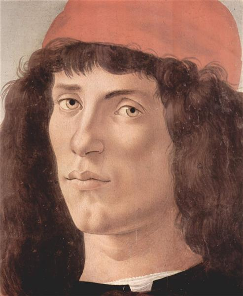 Portrait of a young man with red cap, c.1474 - Sandro Botticelli