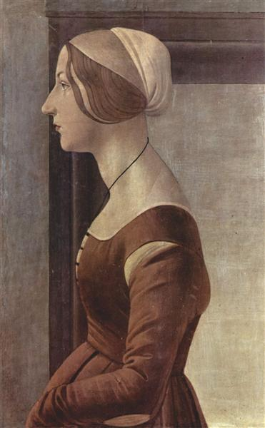 Portrait of a young woman, c.1475 - Sandro Botticelli