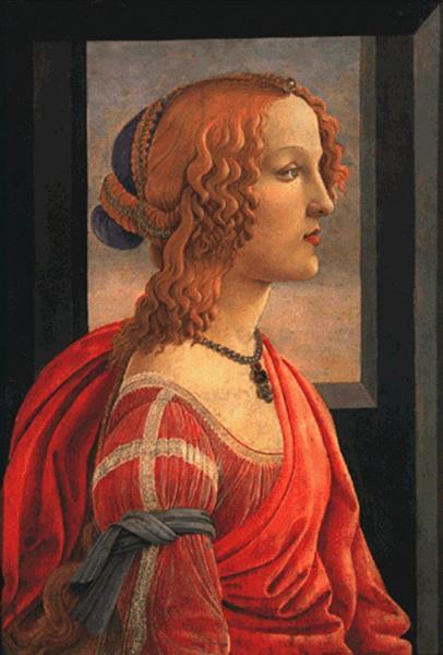 Simonetta, c.1480 - c.1485 - Sandro Botticelli