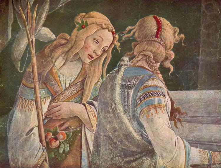 The Youth Moses (detail), 1481-1482 - Sandro Botticelli