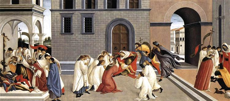 Three Miracles of St Zenobius, 1500 - 1505 - Sandro Botticelli