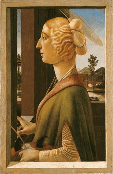 Woman with attributes of Saint Catherine, so called Catherina Sforza Sandro Botticelli, 1475 - Sandro Botticelli