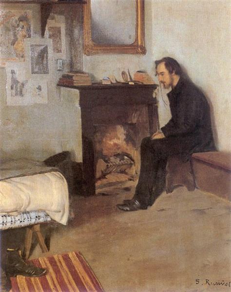 Portrait of Eric Satie - Santiago Rusinol