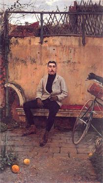 Portrait of Ramon Casas - Santiago Rusiñol
