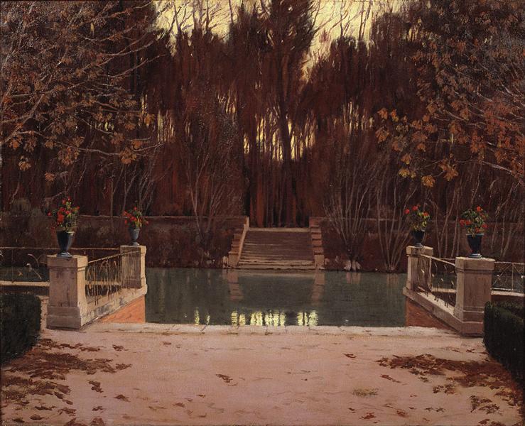 The Landing Stage, 1911 - Santiago Rusinol