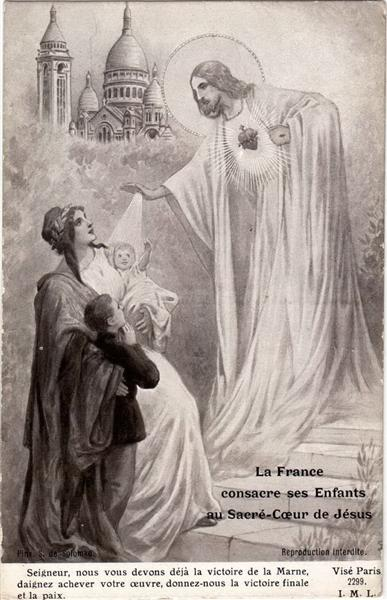 France blesses his children before the Sacred Heart of Jesus - Sergueï Solomko