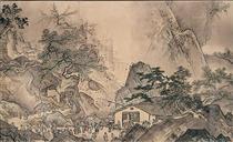 Landscape of Four Seasons (Spring?) - Sesshu Toyo
