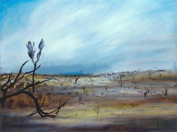 Desert Storm, 1955 - Sidney Nolan