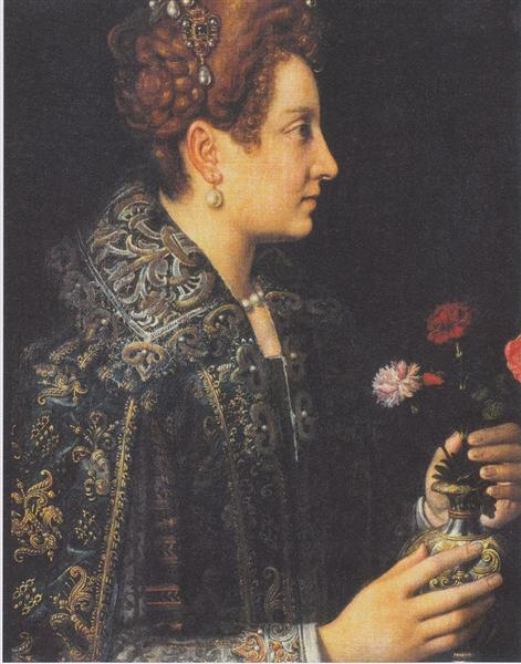 Portrait of a young woman in profile - Sofonisba Anguissola