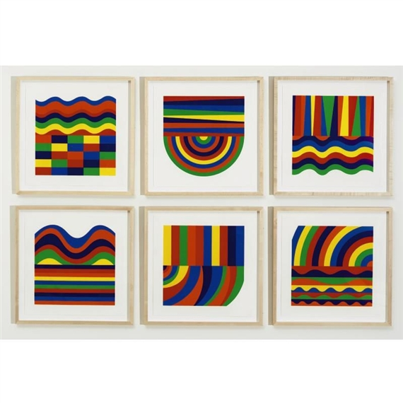 Arcs and Bands in Colors, 1999 - Sol LeWitt