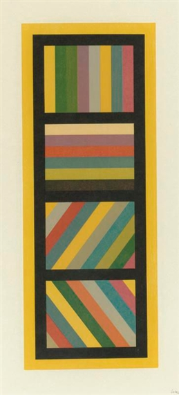 Bands of Color in Four Directions, 1995 - Sol LeWitt