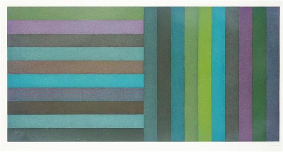 Horizontal Colour Bands and Vertical Colour Bands I, 1991 - Sol LeWitt