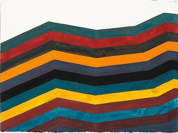 Irregular Horizontal Bands of Equal Width Starting at Bottom, 1991 - Sol LeWitt