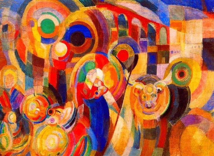 Market at Minho, 1915 - Sonia Delaunay
