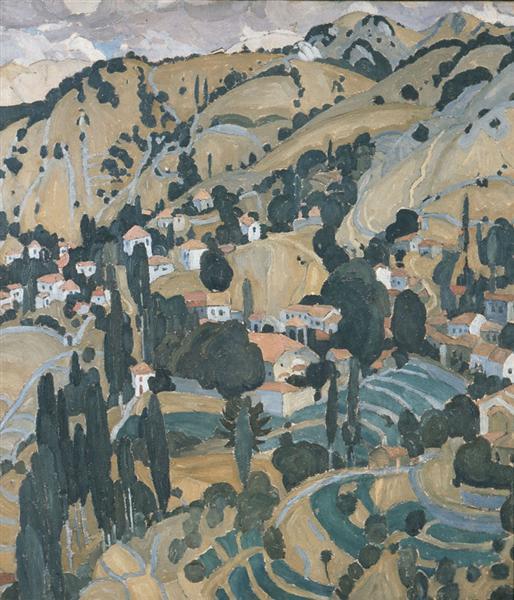 Burnt Village in Mytilini, 1925 - Spyros Papaloukas