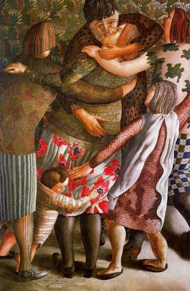 Hilda Welcomed - Stanley Spencer
