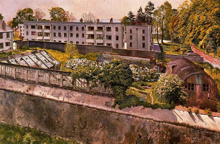 Merville Garden Village Near Belfast, 1951 - Stanley Spencer