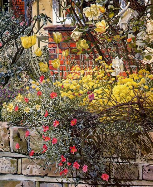 Rock roses. Old Lodge. Taplow., 1957 - Stanley Spencer
