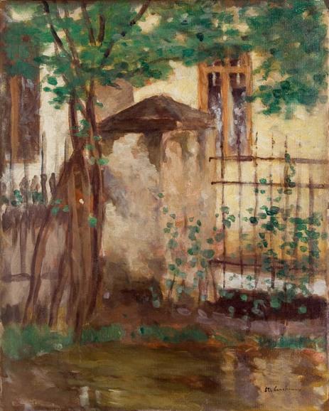 House with fence - Stefan Luchian