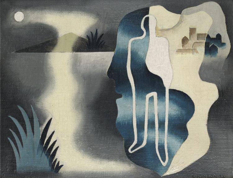 Figur i landskap IV, 1932 - Свен Джонсон