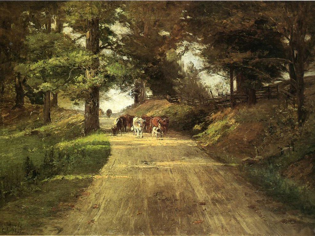an indiana road 1889 t c steele wikiartorg